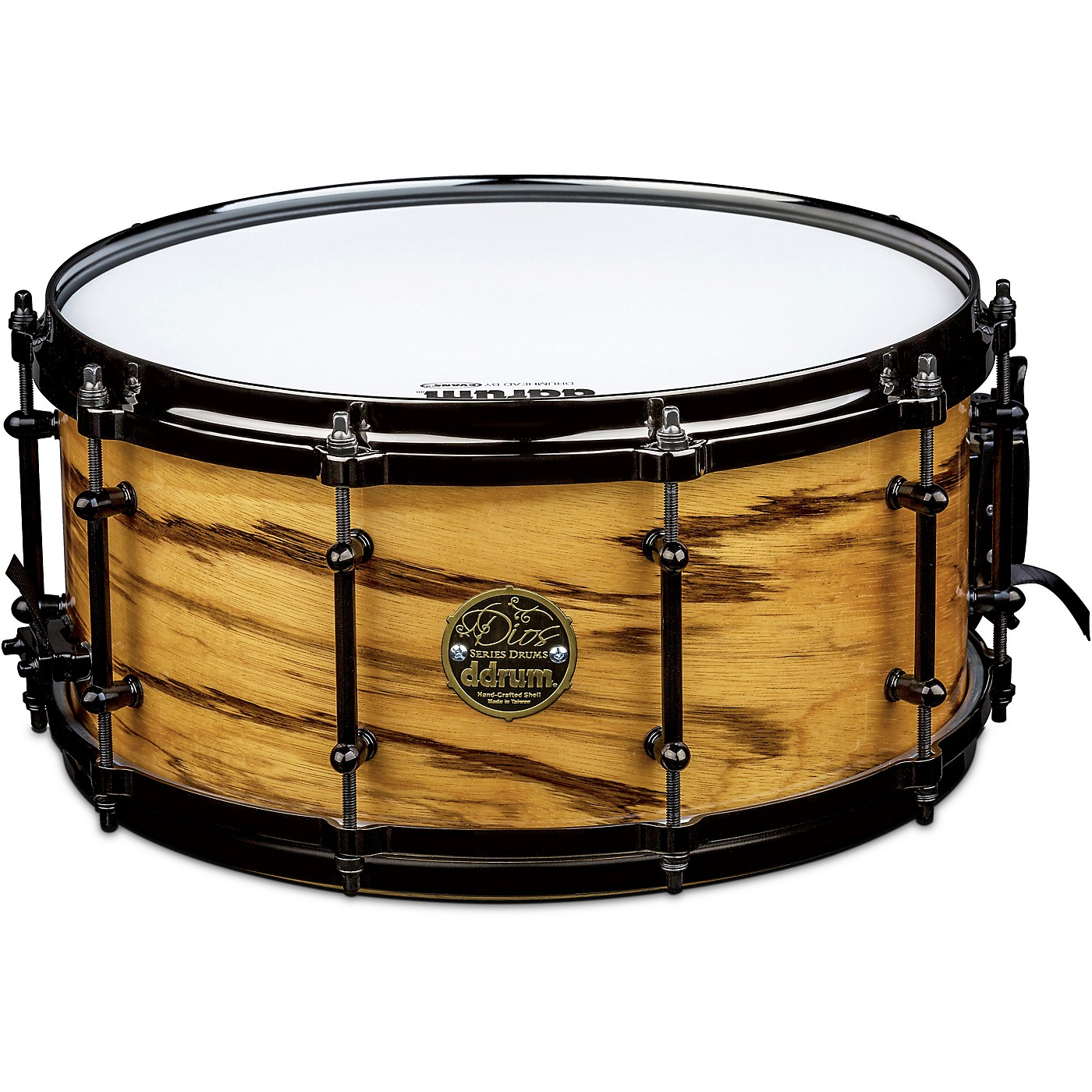 ddrum Dios Maple Snare Drum with Exotic Zebra Wood Veneer thumbnail
