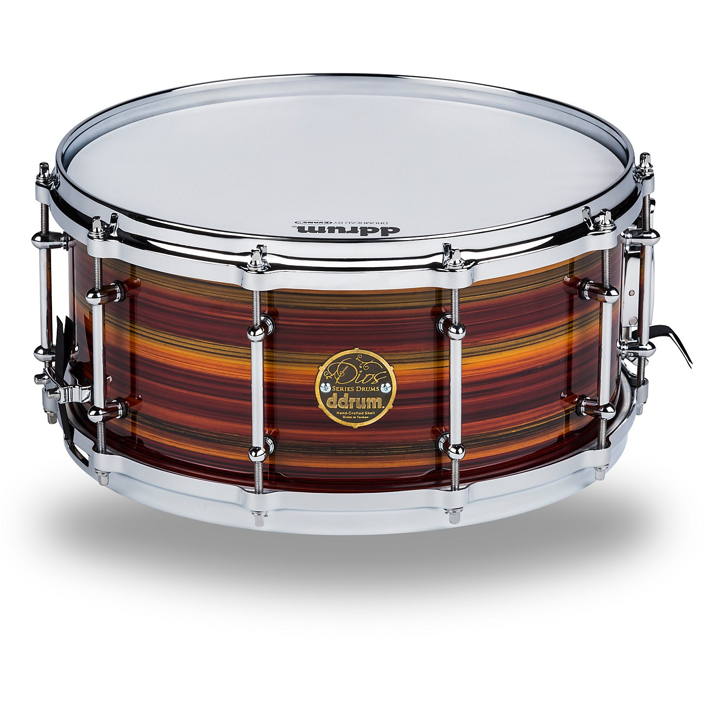 ddrum Dios Maple Striped Lacquer Snare Drum thumbnail