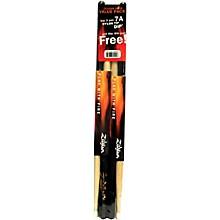 Zildjian Dip Wood Drumsticks, Buy 3 Pairs Get 1 Pair Free - Black
