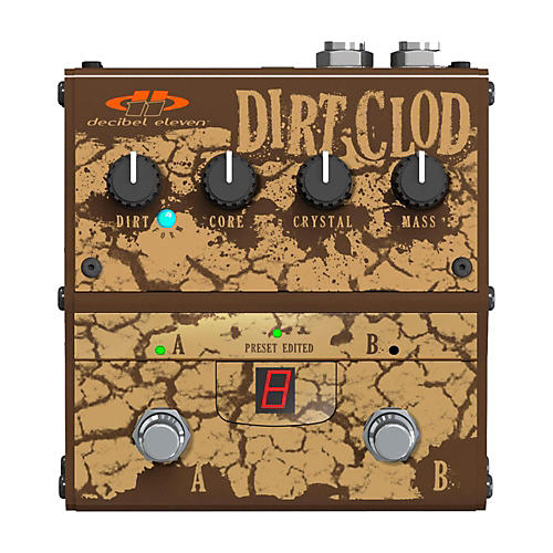 Decibel Eleven Dirt Clod Analog Overdrive-Distortion Guitar Effects Pedal thumbnail