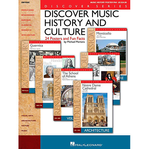 Hal Leonard Discover Music History And Culture - Set Of 24 Posters and Fun Facts thumbnail