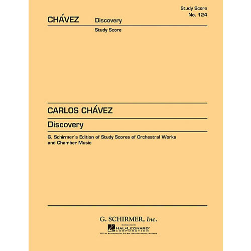 G. Schirmer Discovery (1969) (Study Score No. 124) Study Score Series Composed by Carlos Chàvez thumbnail