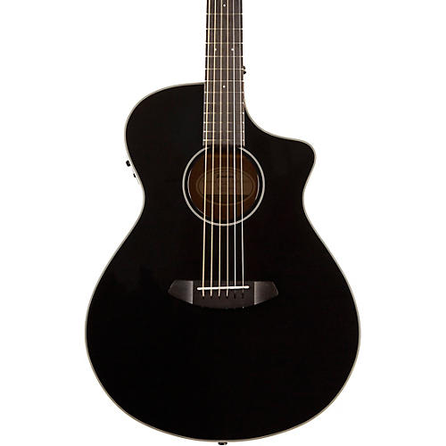 Breedlove Discovery Concert Black CE Sitka Spruce-Mahogany  Acoustic-Electric Guitar thumbnail