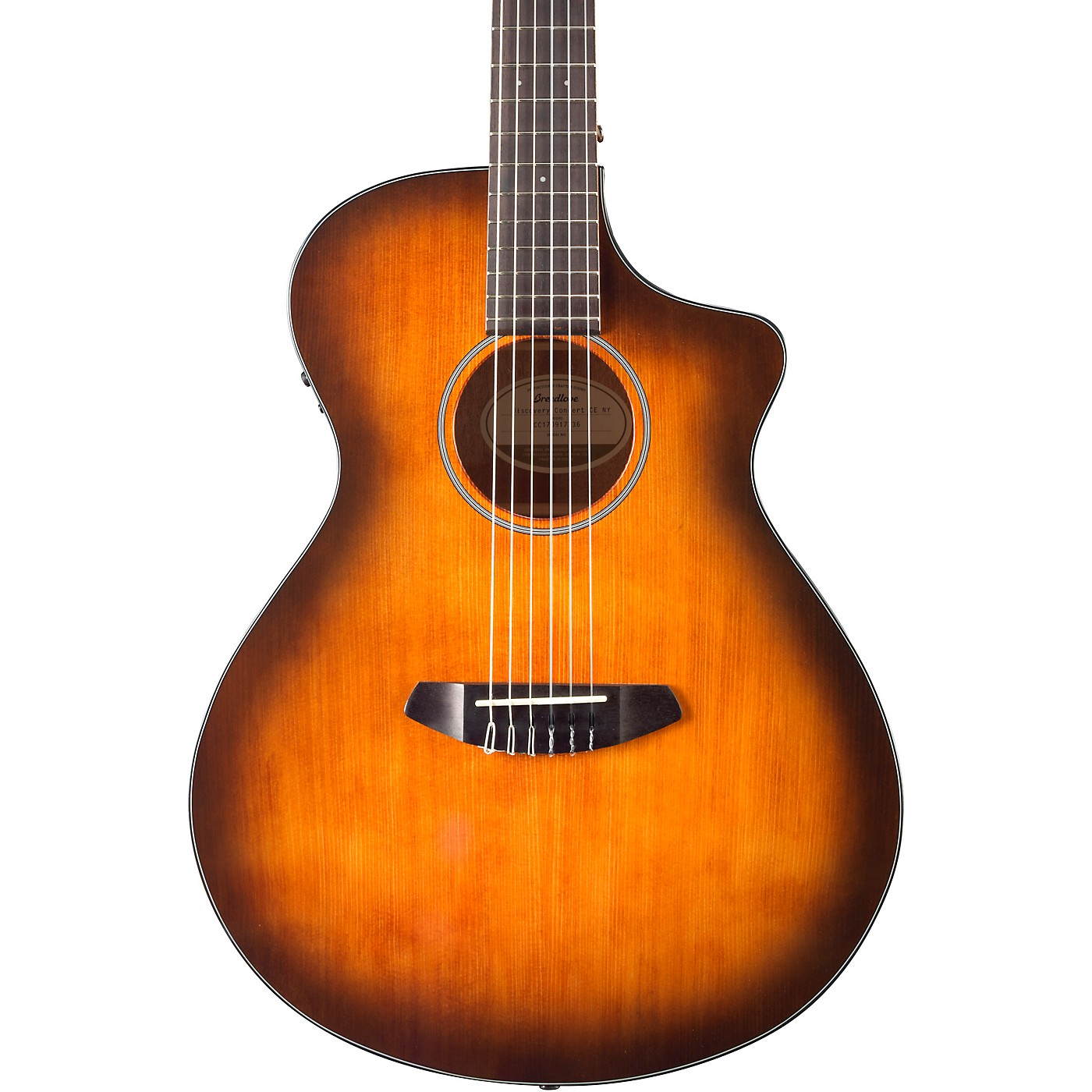 Breedlove Discovery Concert Nylon Cutaway CE Mahogany Acoustic-Electric Guitar With Engelmann Spruce Top thumbnail