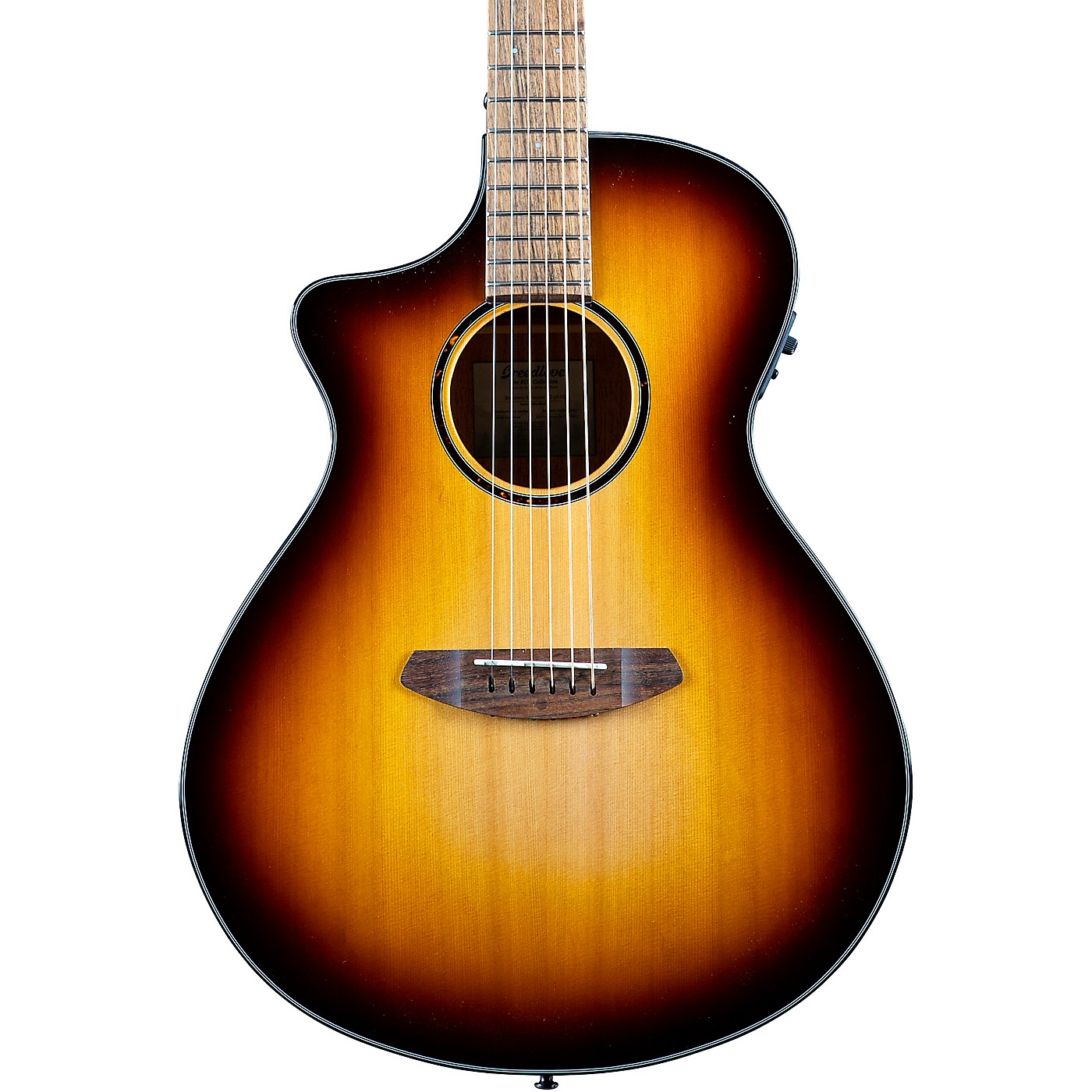 Breedlove Discovery S CE LH Red cedar-African Mahogany Concert Left Handed Acoustic-Electric Guitar thumbnail