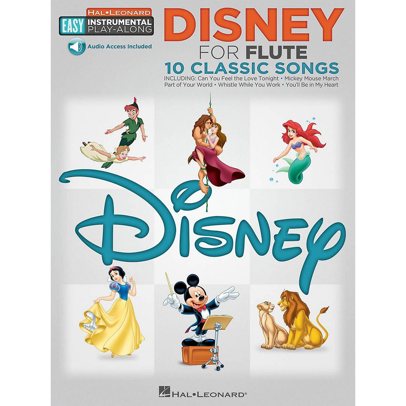 Hal Leonard Disney - Flute - Easy Instrumental Play-Along Book with Online Audio Tracks thumbnail