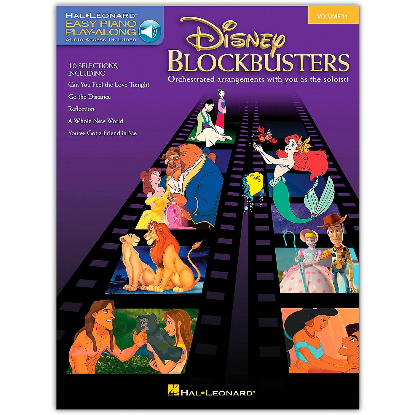 Hal Leonard Disney Blockbusters - Easy Piano Play-Along Volume 11 (Book/Online Audio) thumbnail