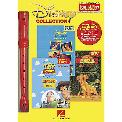 Hal Leonard Disney Collection Learn & Play Recorder 3-Book & Recorder Pack thumbnail