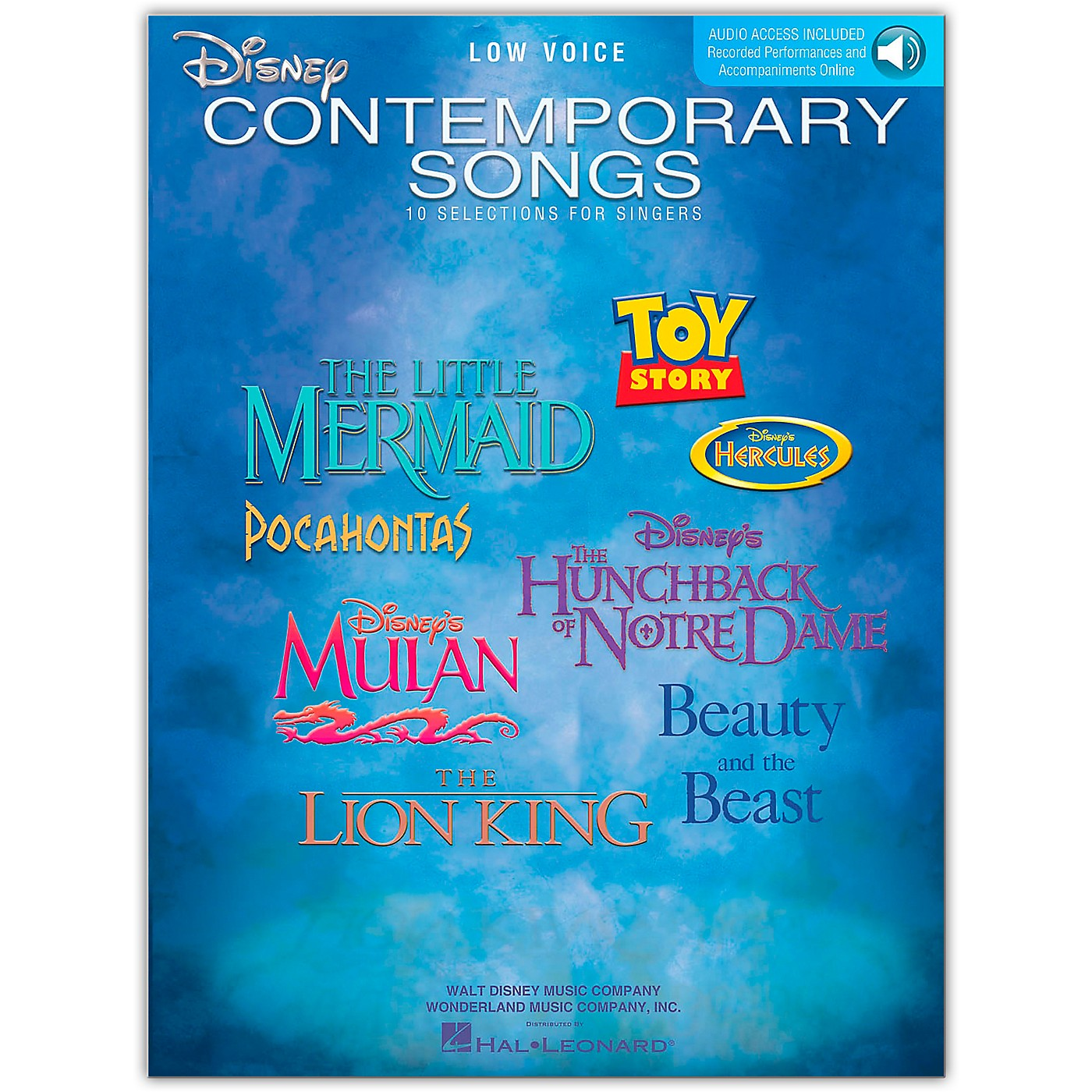 Hal Leonard Disney Contemporary Songs for Low Voice Book/Online Audio thumbnail