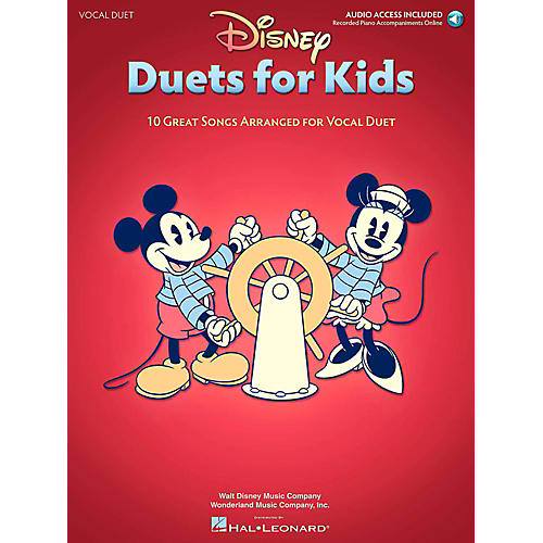 Hal Leonard Disney Duets For Kids - Two Voices And Piano Accompaniment - Book/Online Audio thumbnail