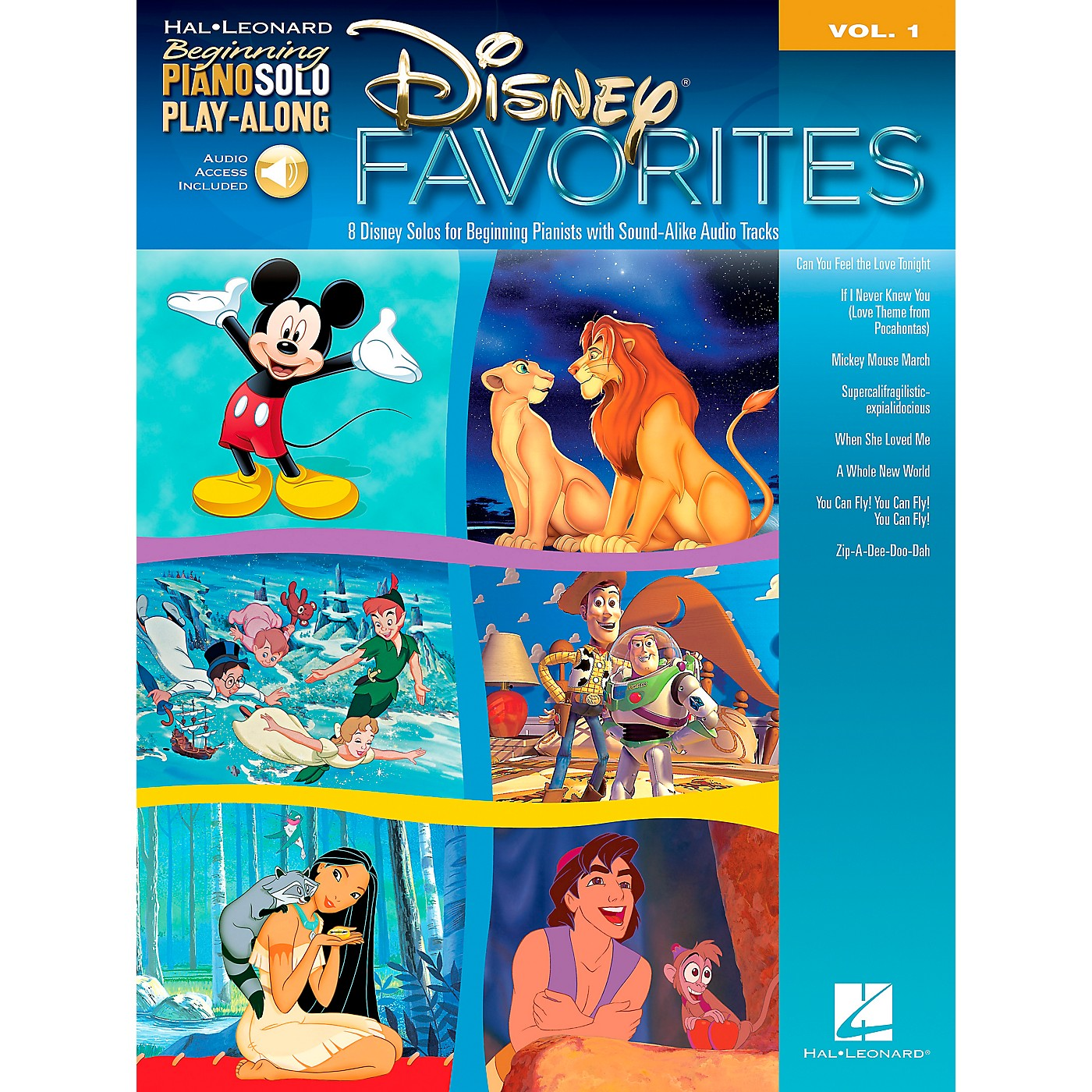 Hal Leonard Disney Favorites - Beginning Piano Solo Play-Along Book/CD Volume 1 thumbnail