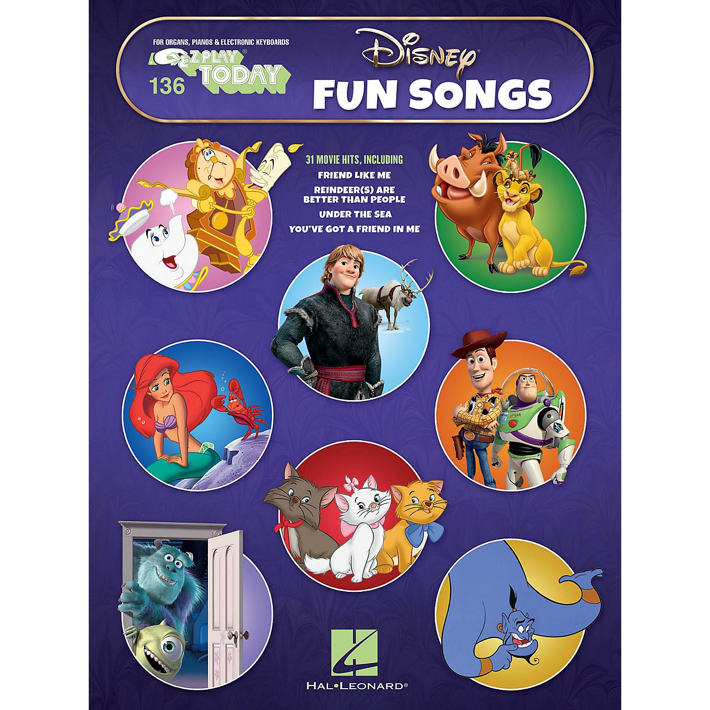 Hal Leonard Disney Fun Songs E-Z Play Today Volume 136 Songbook thumbnail