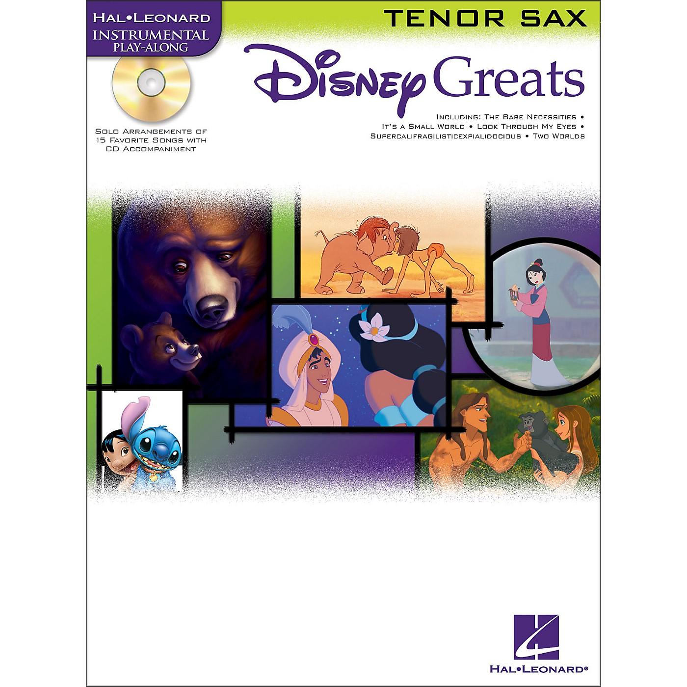 Hal Leonard Disney Greats for Tenor Sax Book/CD Instrumental Play-Along thumbnail