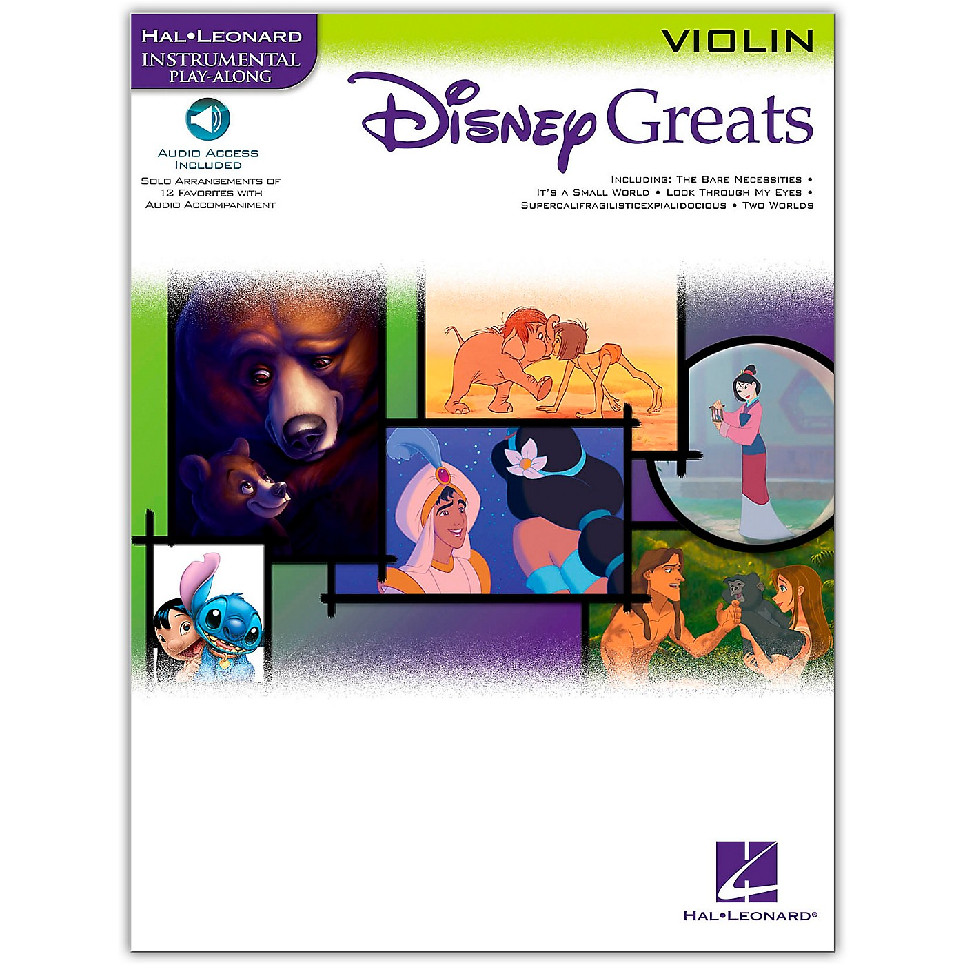 Hal Leonard Disney Greats for Violin Book/Online Audio Instrumental Play-Along thumbnail