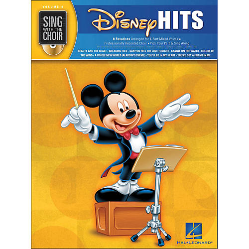 Hal Leonard Disney Hits - Sing with The Choir Series Vol . 8 Book/CD thumbnail