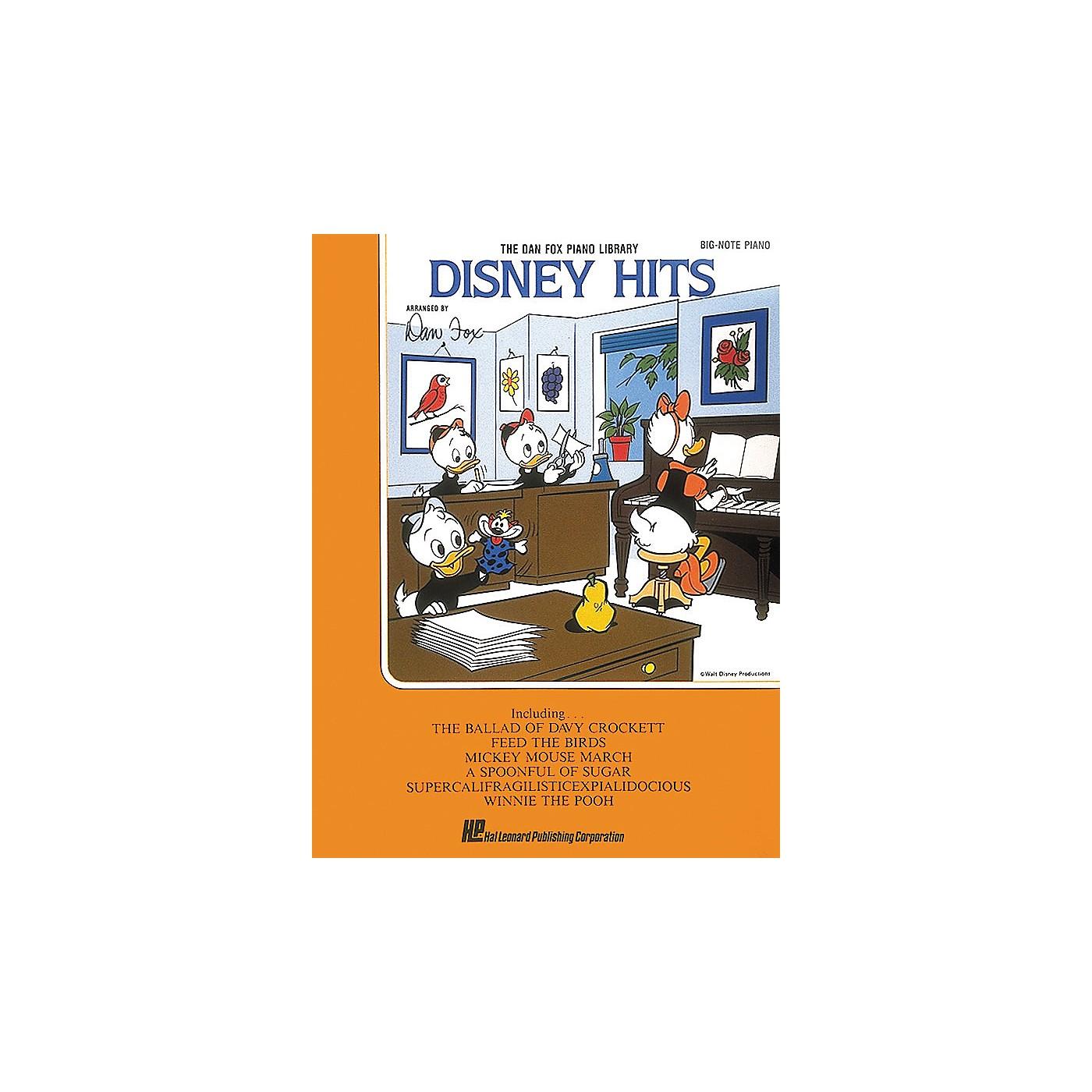 Hal Leonard Disney Hits For Big Note Piano by Dan Fox thumbnail