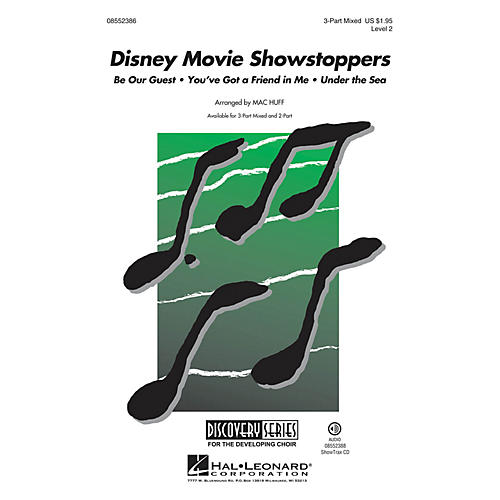 Hal Leonard Disney Movie Showstoppers (Discovery Level 2) 2-Part Arranged by Mac Huff thumbnail