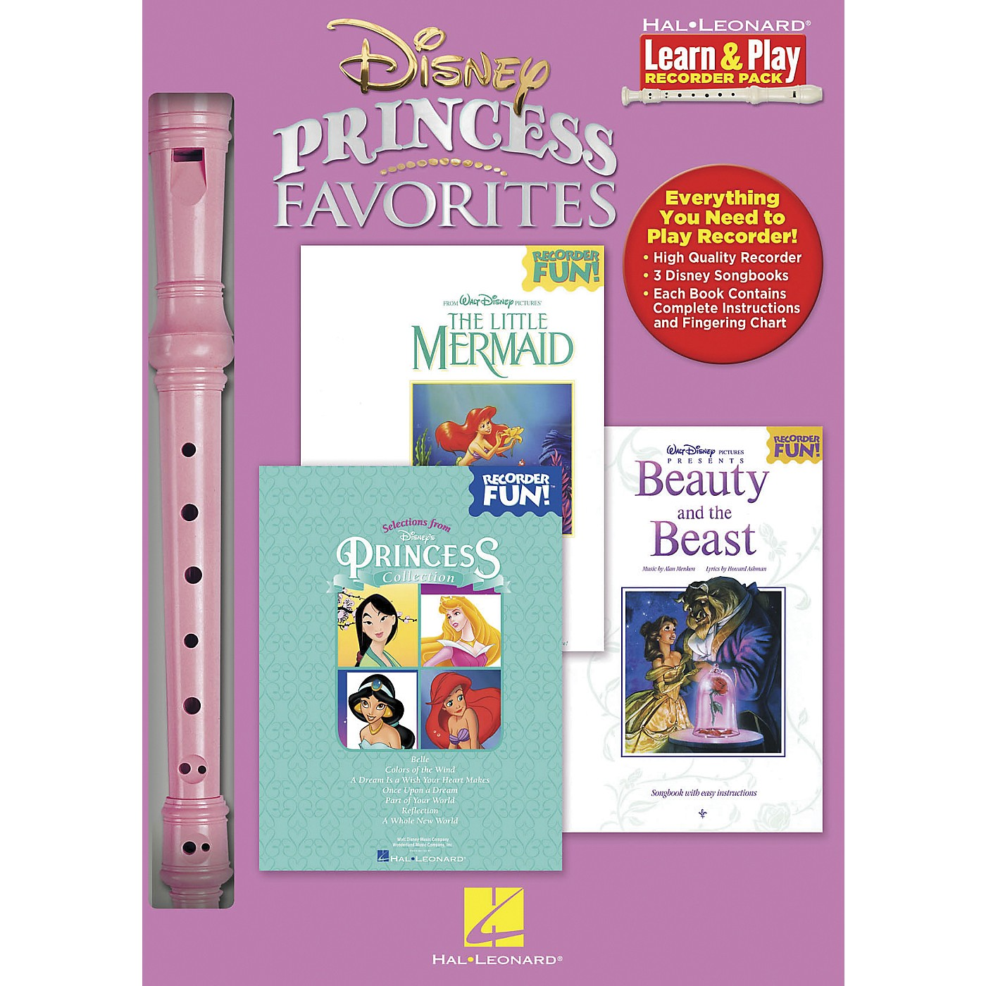 Hal Leonard Disney Princess Favorites Learn & Play 3-Book & Recorder Pack thumbnail