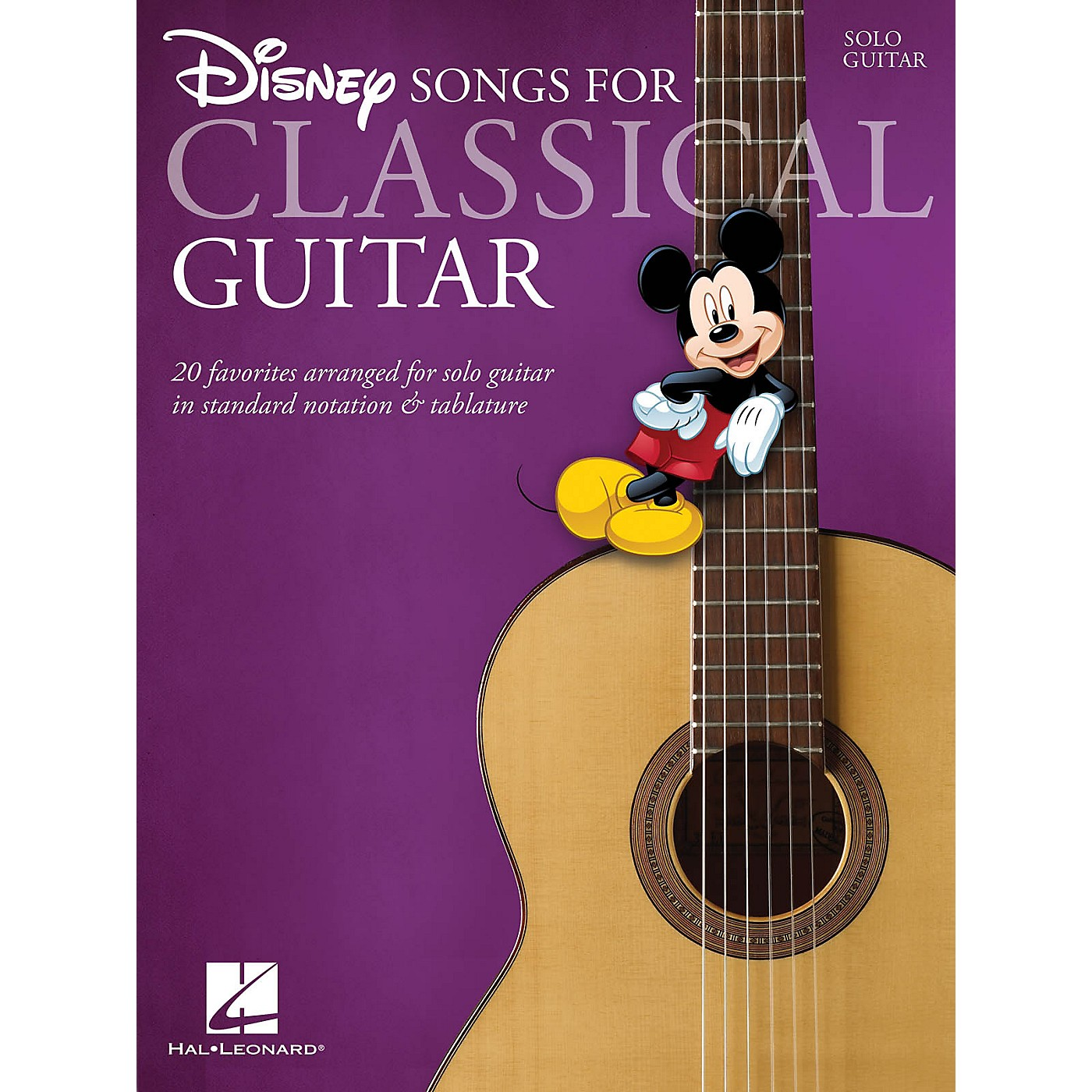 Hal Leonard Disney Songs for Classical Guitar (Standard Notation & Tab) Guitar Solo Series Softcover thumbnail