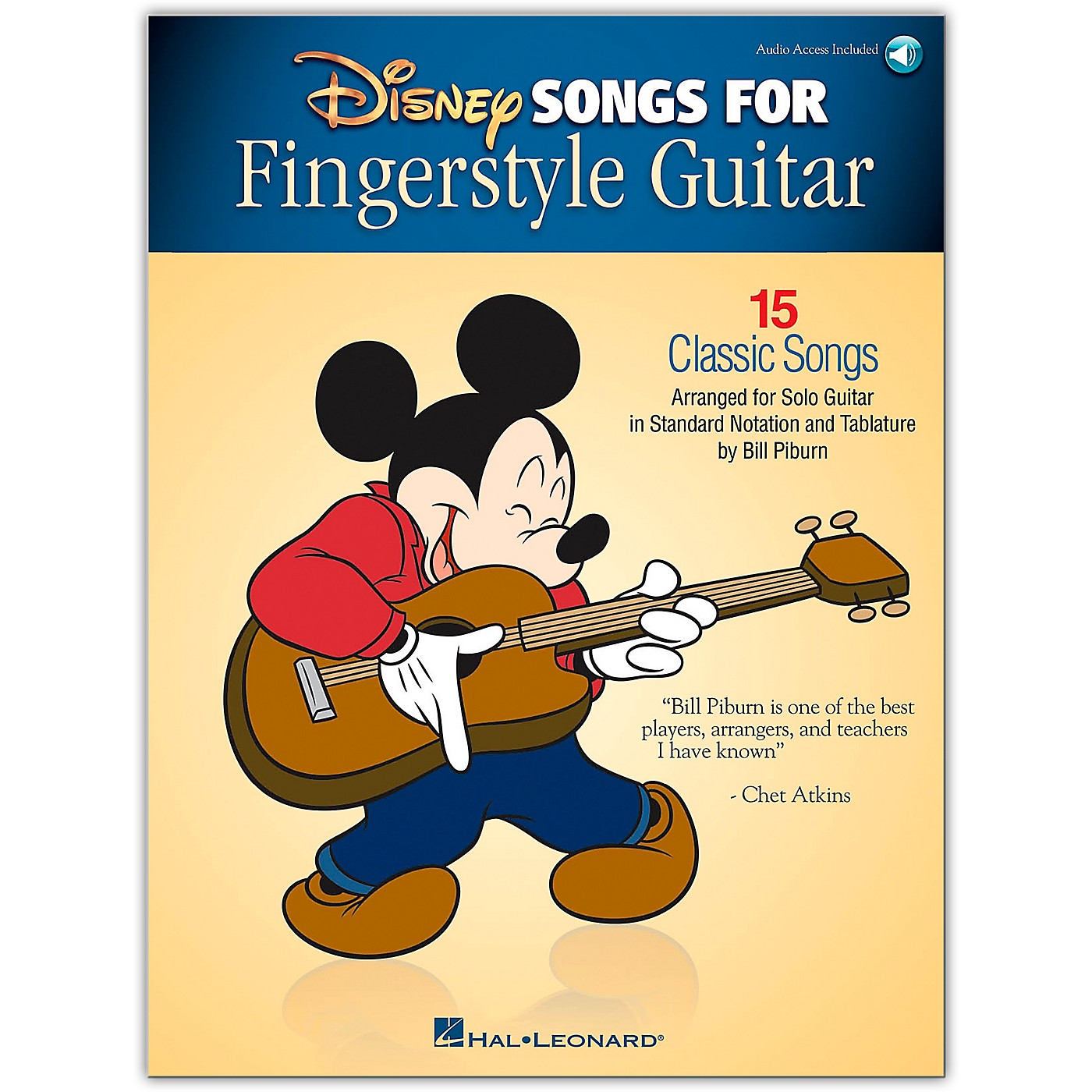 Hal Leonard Disney Songs for Fingerstyle Guitar Arranged for Guitar Solo Book/Audio Online thumbnail