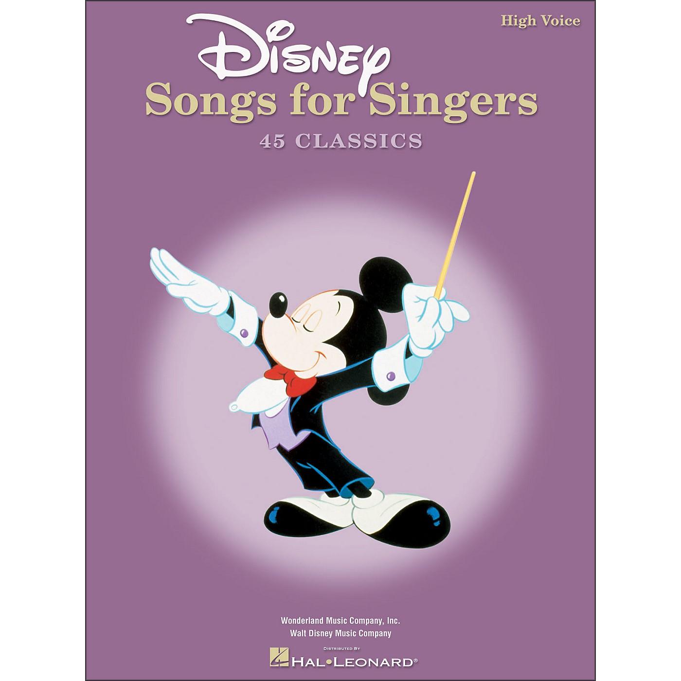 Hal Leonard Disney Songs for Singers for High Voice thumbnail