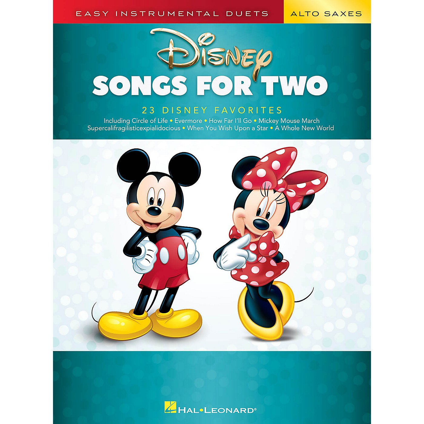 Hal Leonard Disney Songs for Two Alto Saxes - Easy Instrumental Duets Series Songbook thumbnail