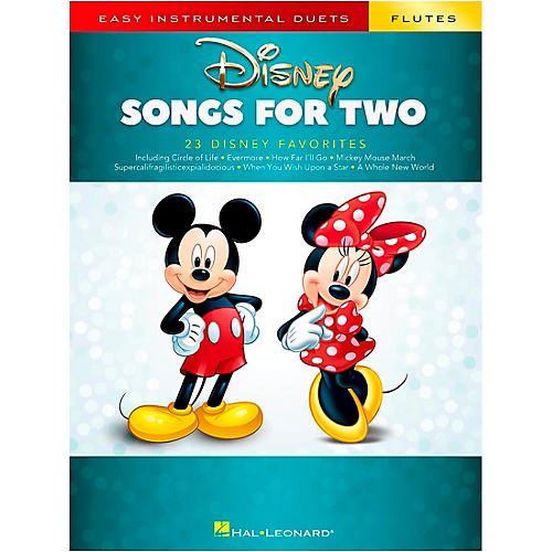 Hal Leonard Disney Songs for Two Flutes - Easy Instrumental Duets Series Songbook thumbnail