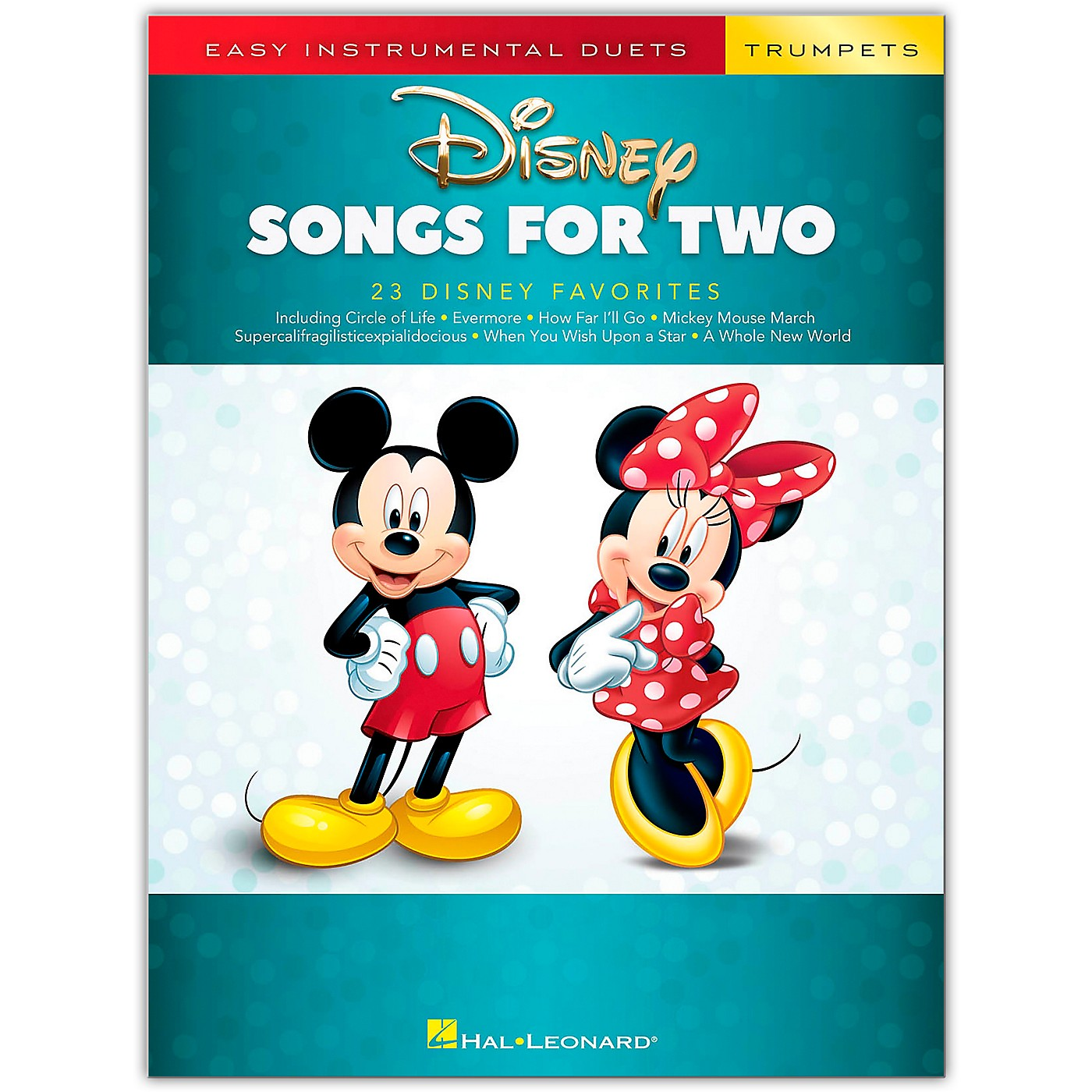 Hal Leonard Disney Songs for Two Trumpets - Easy Instrumental Duets Series Songbook thumbnail