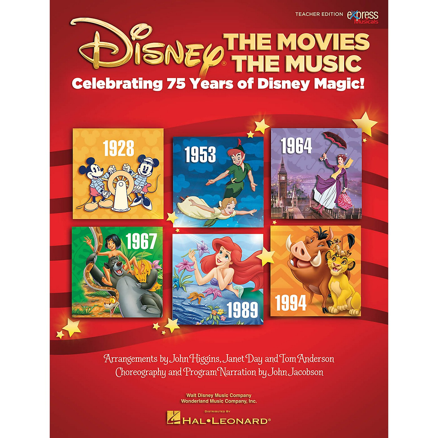 Hal Leonard Disney: The Movies The Music (Celebrating 75 Years of Disney Magic!) singer 20 pak by John Higgins thumbnail