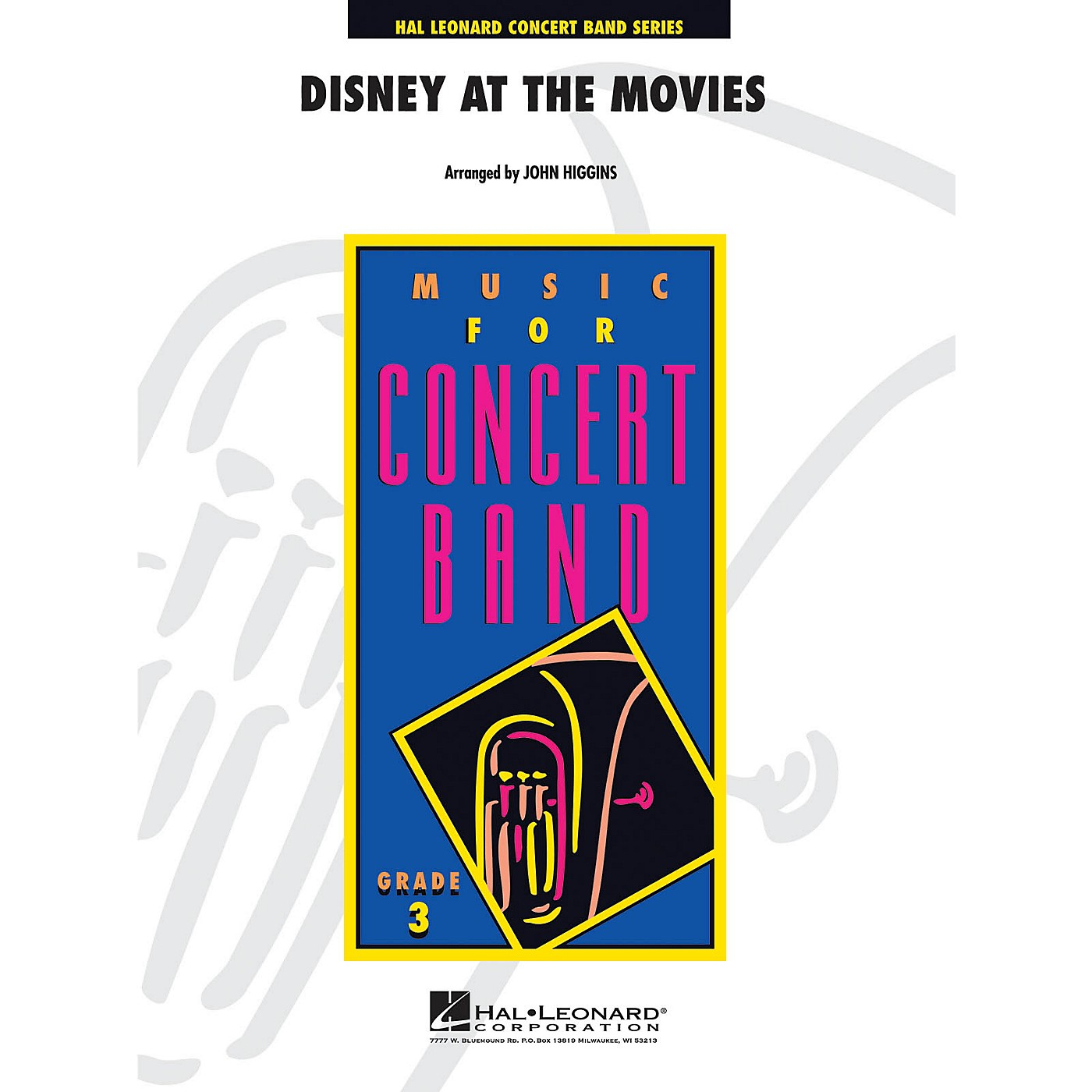 Hal Leonard Disney at the Movies - Young Concert Band Series Level 3 arranged by John Higgins thumbnail