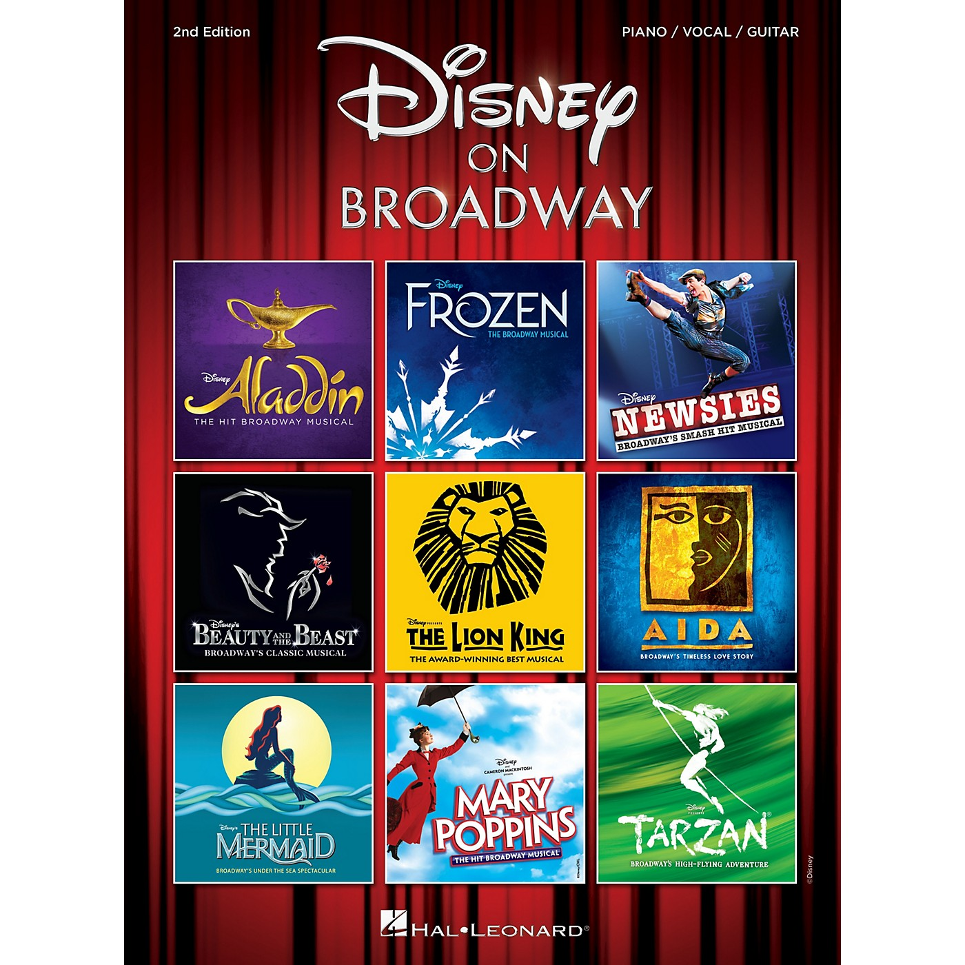 Hal Leonard Disney on Broadway - 2nd Edition Piano/Vocal/Guitar Songbook thumbnail