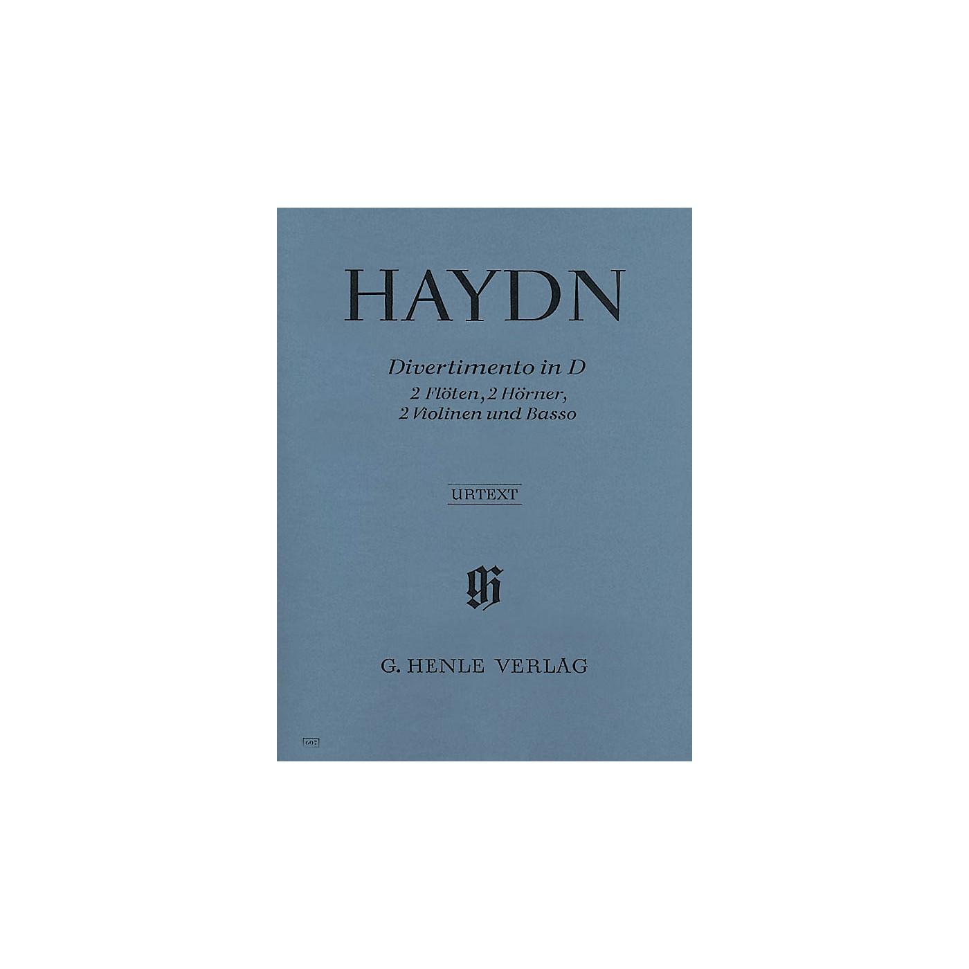 G. Henle Verlag Divertimento D Major Hob II:8 Henle Music Folios Series Softcover  by Joseph Haydn thumbnail