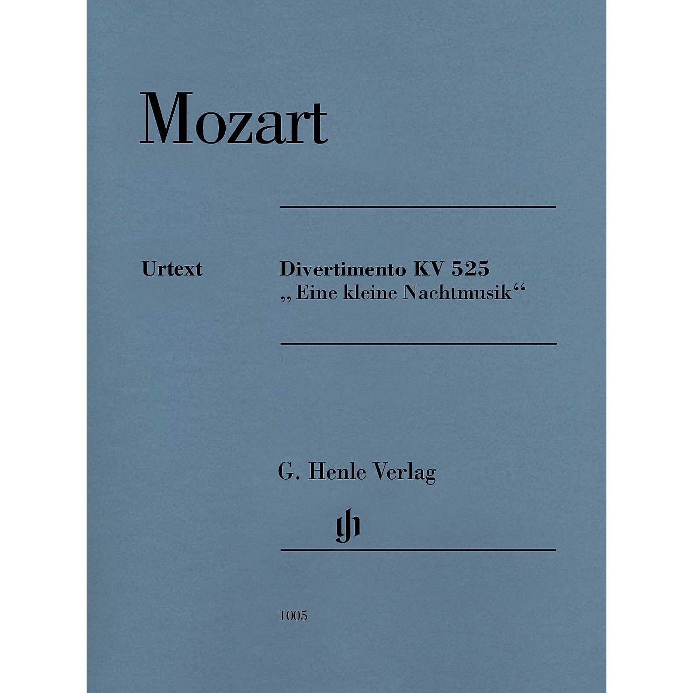 G. Henle Verlag Divertimento K525 Eine kleine Nachtmusik Henle Music Composed by Mozart Edited by Wolf-Dieter Seiffert thumbnail