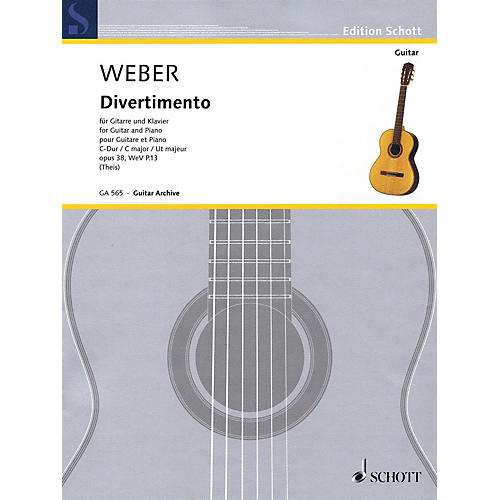 Schott Divertimento Op. 38, WeV P. 13 (Guitar and Piano) Guitar Series Softcover thumbnail