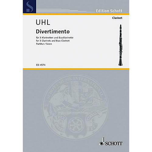 Schott Divertimento (Score) Schott Series Composed by Alfred Uhl thumbnail