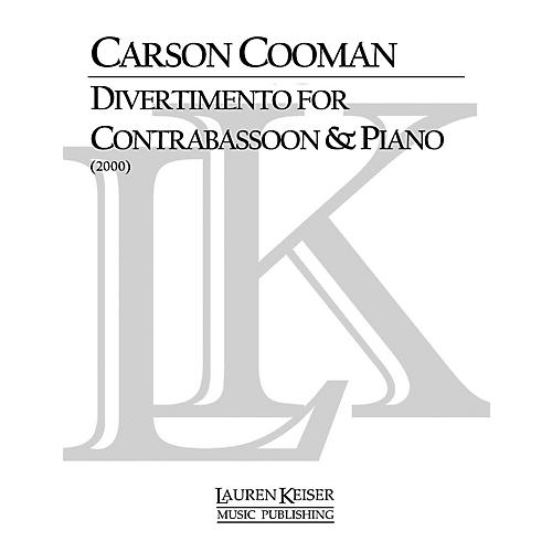Lauren Keiser Music Publishing Divertimento for Contrabassoon and Piano LKM Music Series thumbnail