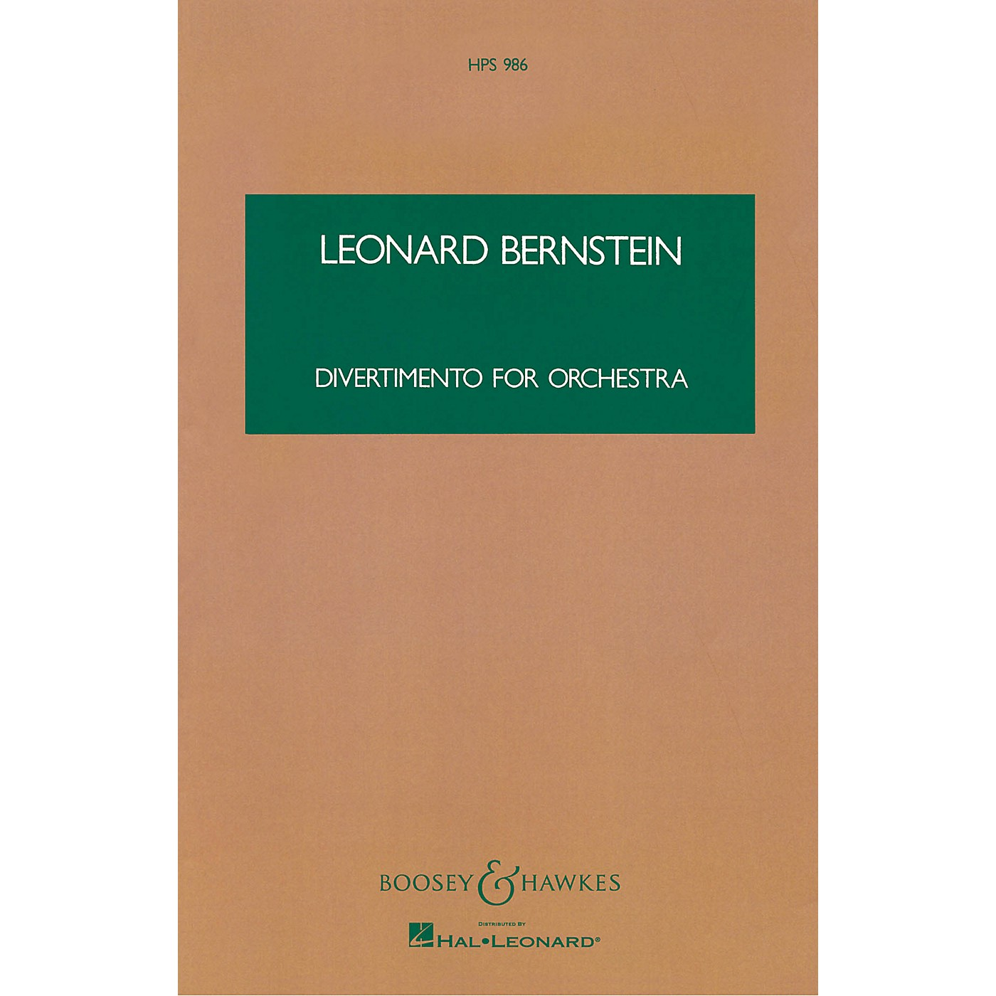 Boosey and Hawkes Divertimento for Orchestra Boosey & Hawkes Scores/Books Series Composed by Leonard Bernstein thumbnail