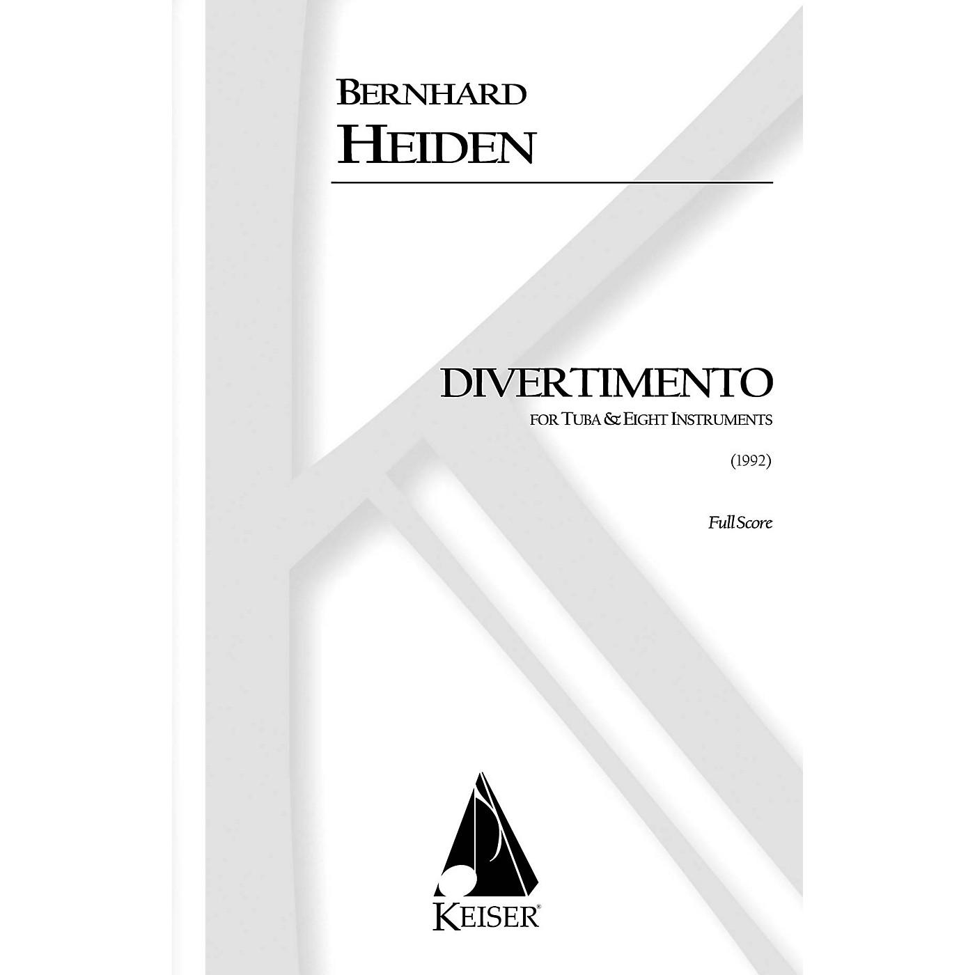 Lauren Keiser Music Publishing Divertimento for Tuba and Eight Instruments (Full Score) LKM Music Series Composed by Bernhard Heiden thumbnail