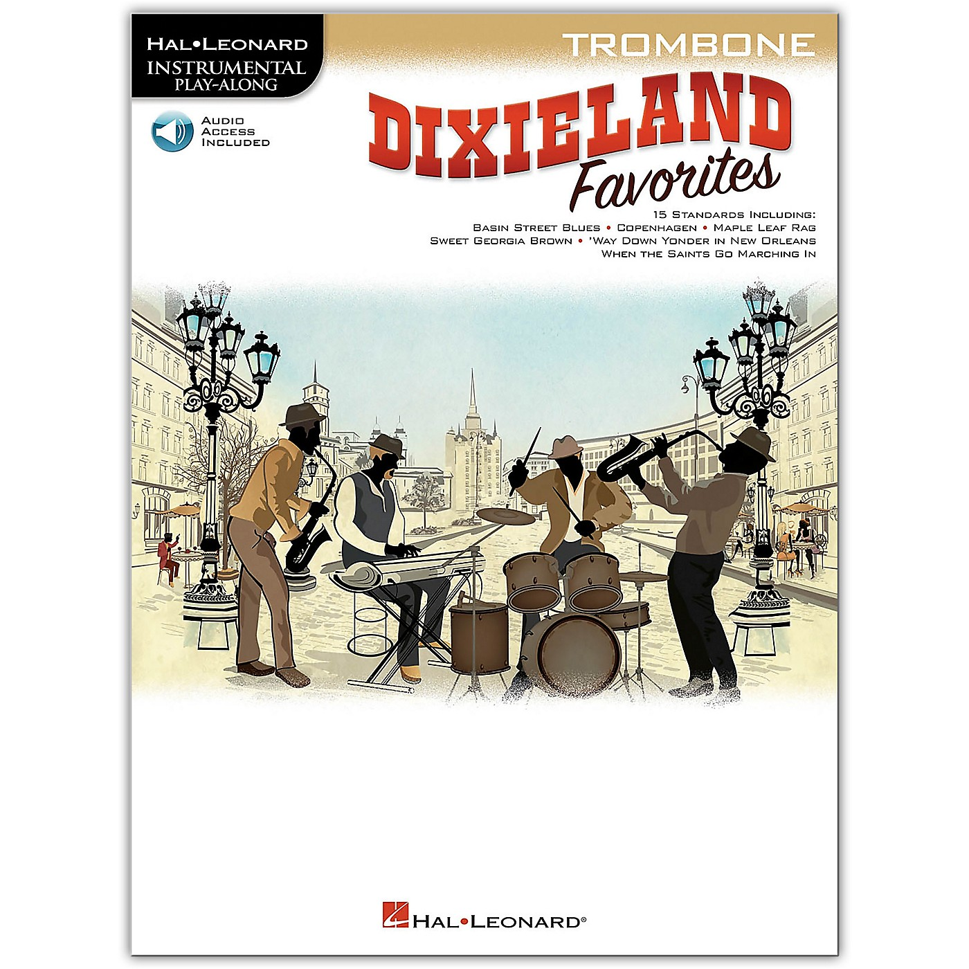 Hal Leonard Dixieland Favorites for Trombone Instrumental Play-Along Book/Audio Online thumbnail