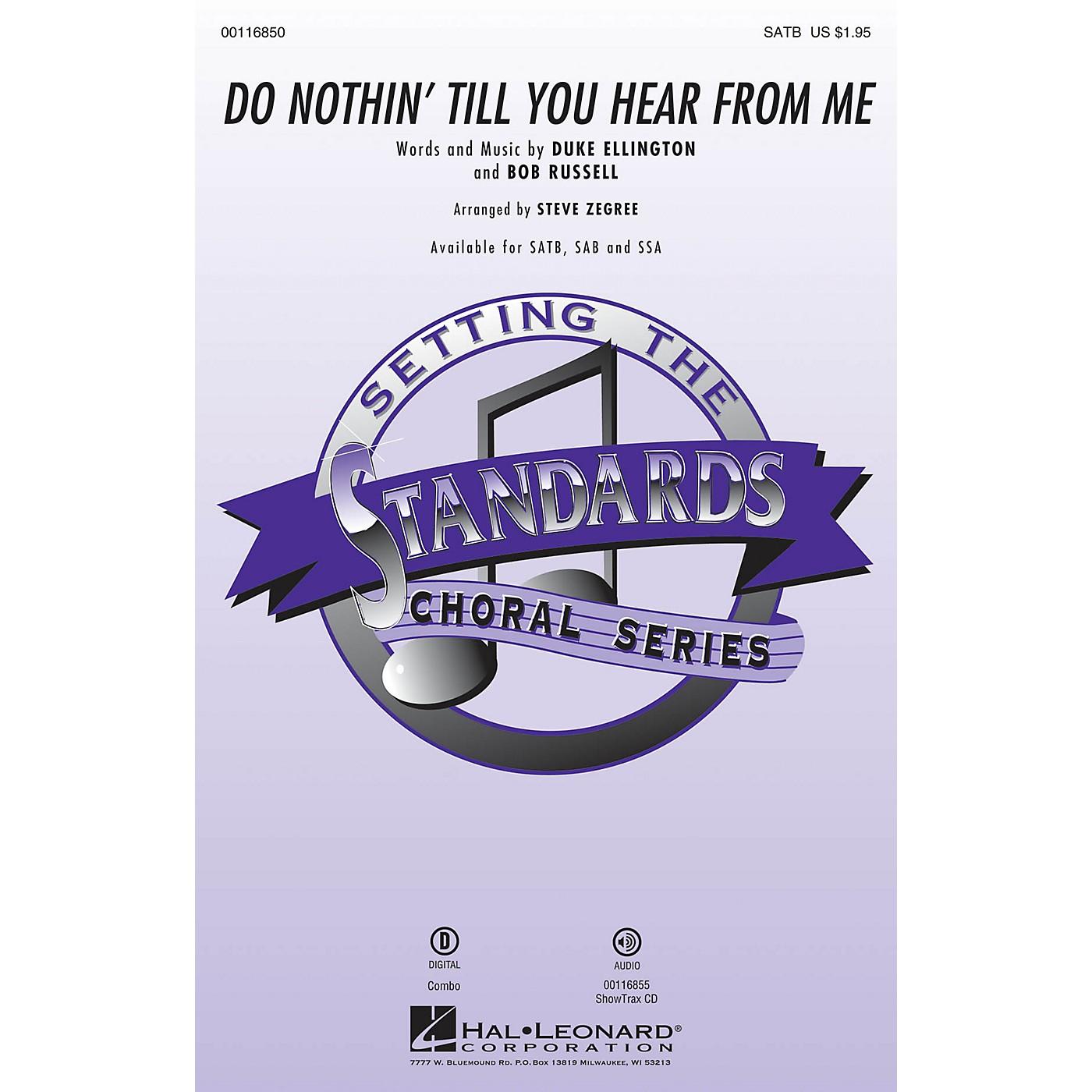 Hal Leonard Do Nothin' Till You Hear from Me SSA Arranged by Steve Zegree thumbnail