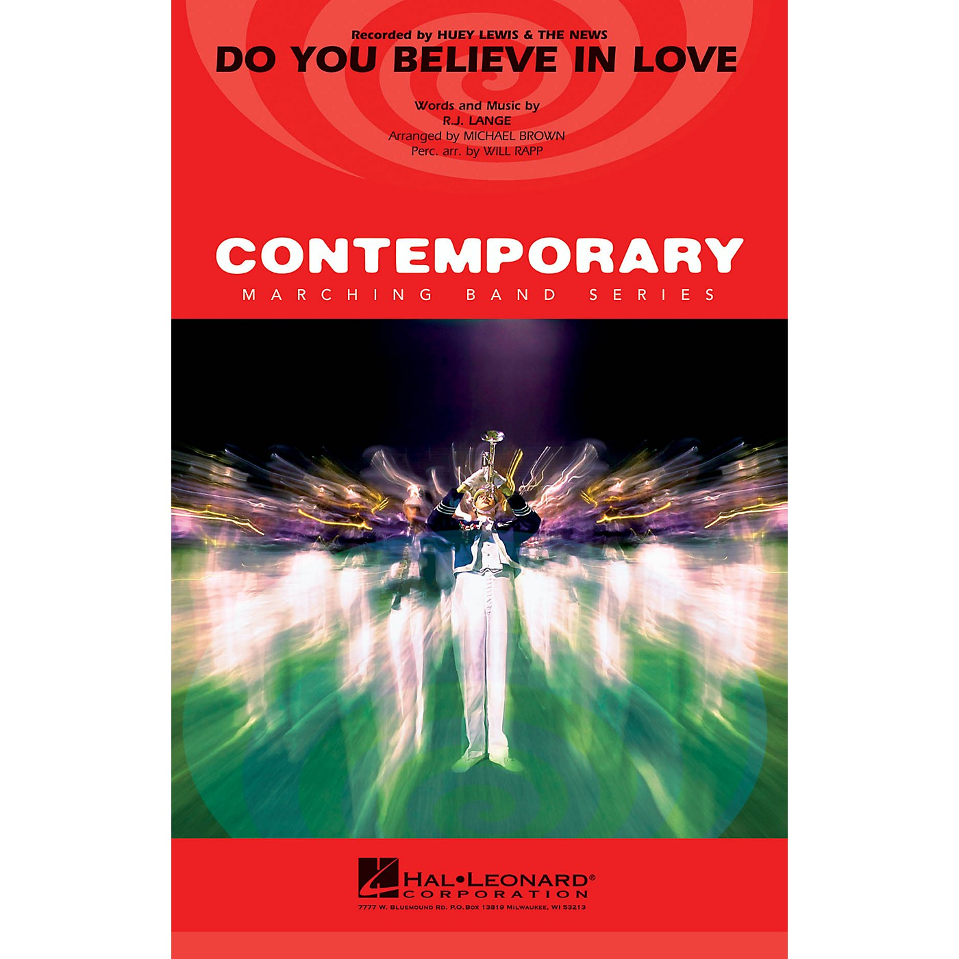 Hal Leonard Do You Believe in Love Marching Band Level 3-4 by Huey Lewis and the News Arranged by Michael Brown thumbnail