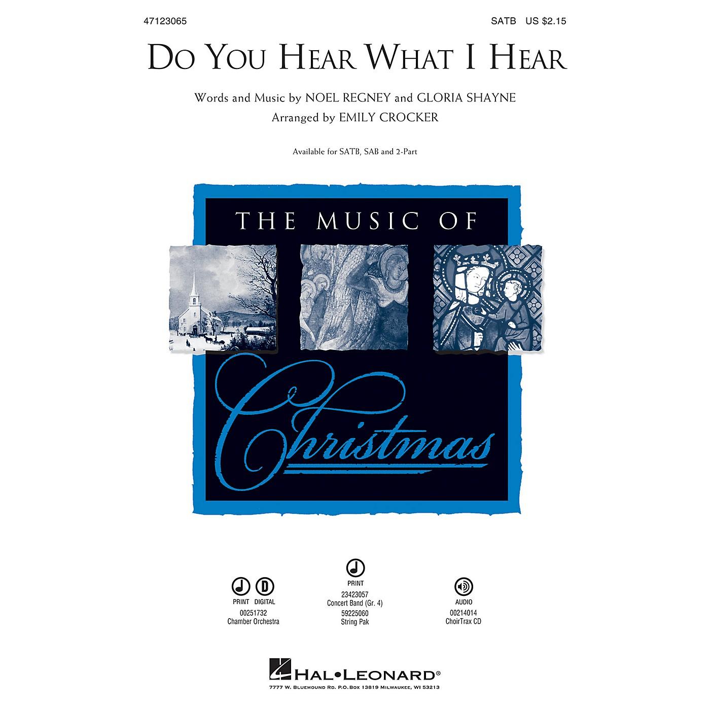 Hal Leonard Do You Hear What I Hear 2-Part Arranged by Emily Crocker thumbnail
