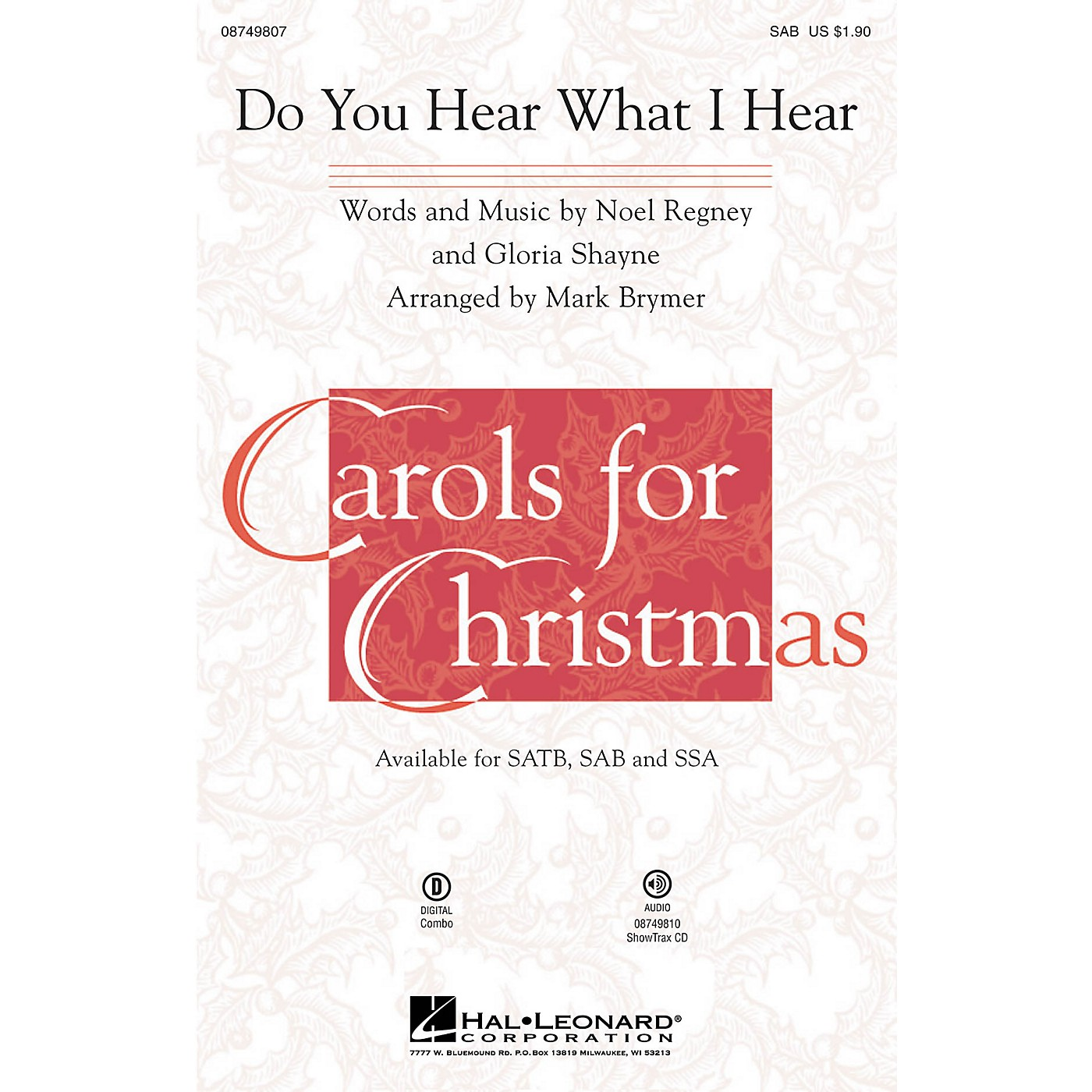 Hal Leonard Do You Hear What I Hear? SAB arranged by Mark Brymer thumbnail