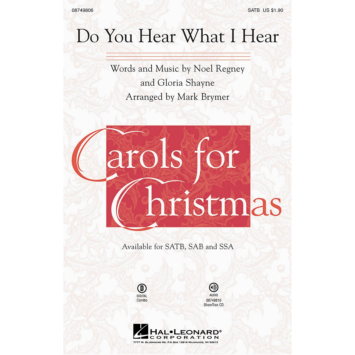 Hal Leonard Do You Hear What I Hear? ShowTrax CD Arranged by Mark Brymer thumbnail