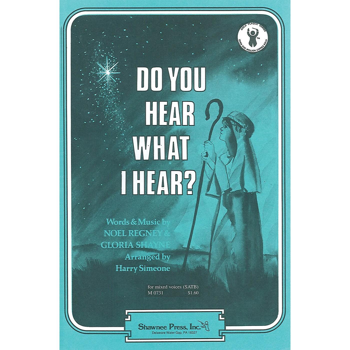 Shawnee Press Do You Hear What I Hear? TTBB Arranged by Harry Simeone thumbnail