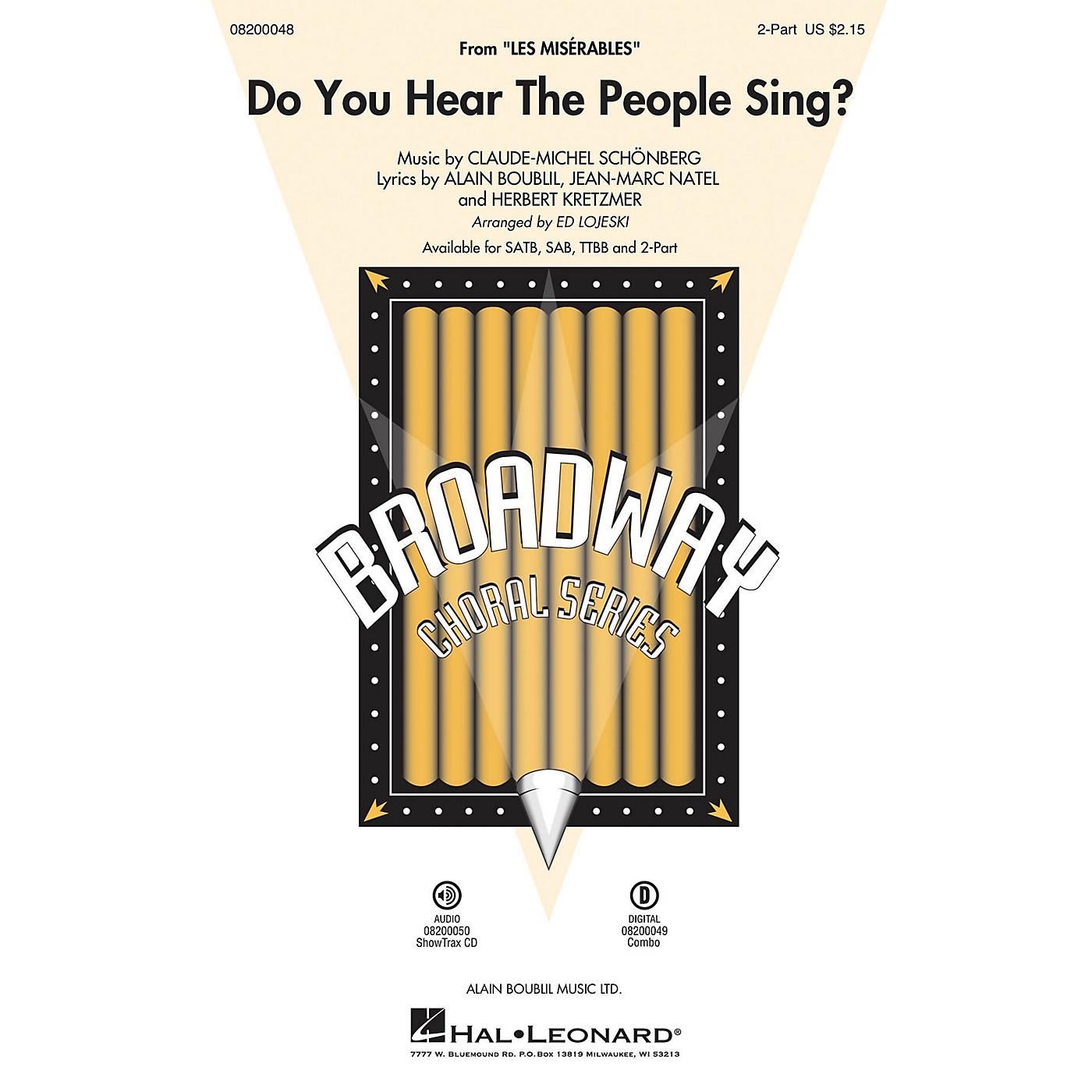 Hal Leonard Do You Hear the People Sing? (from Les Misérables) SAB Arranged by Ed Lojeski thumbnail