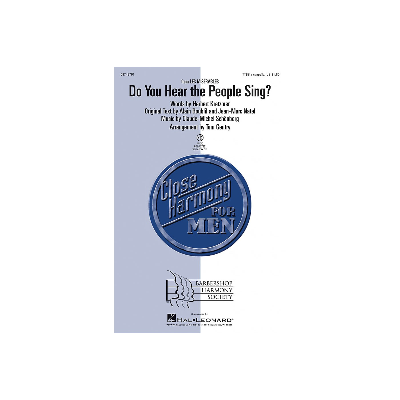 Hal Leonard Do You Hear the People Sing? (from Les Misérables) TTBB A Cappella arranged by Tom Gentry thumbnail