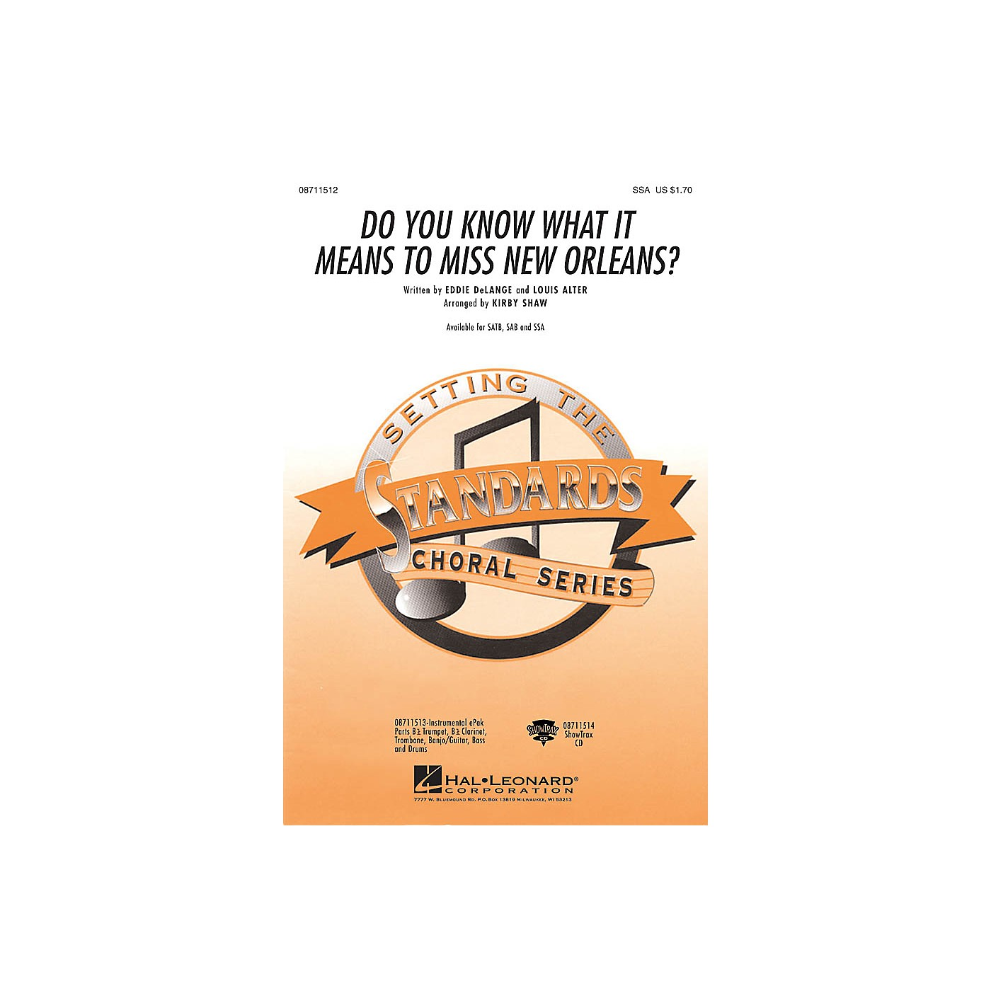 Hal Leonard Do You Know What It Means to Miss New Orleans SSA arranged by Kirby Shaw thumbnail