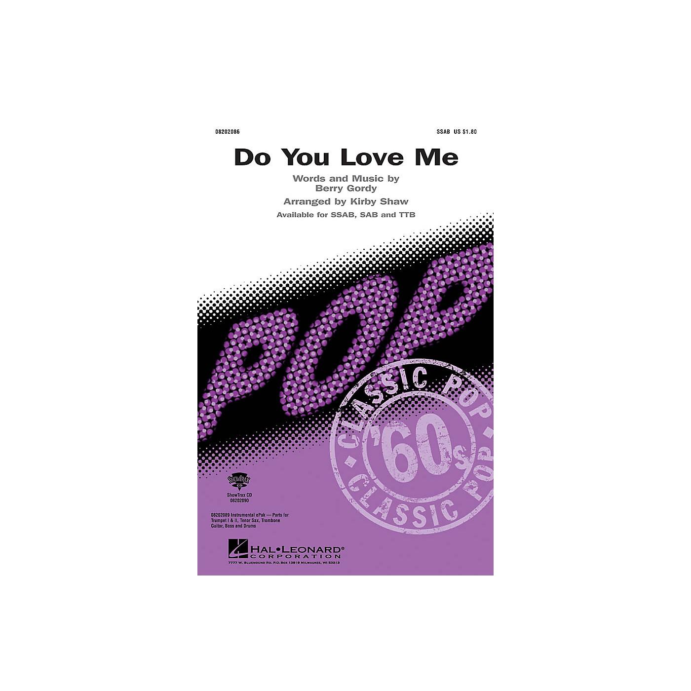 Hal Leonard Do You Love Me TTB Arranged by Kirby Shaw thumbnail