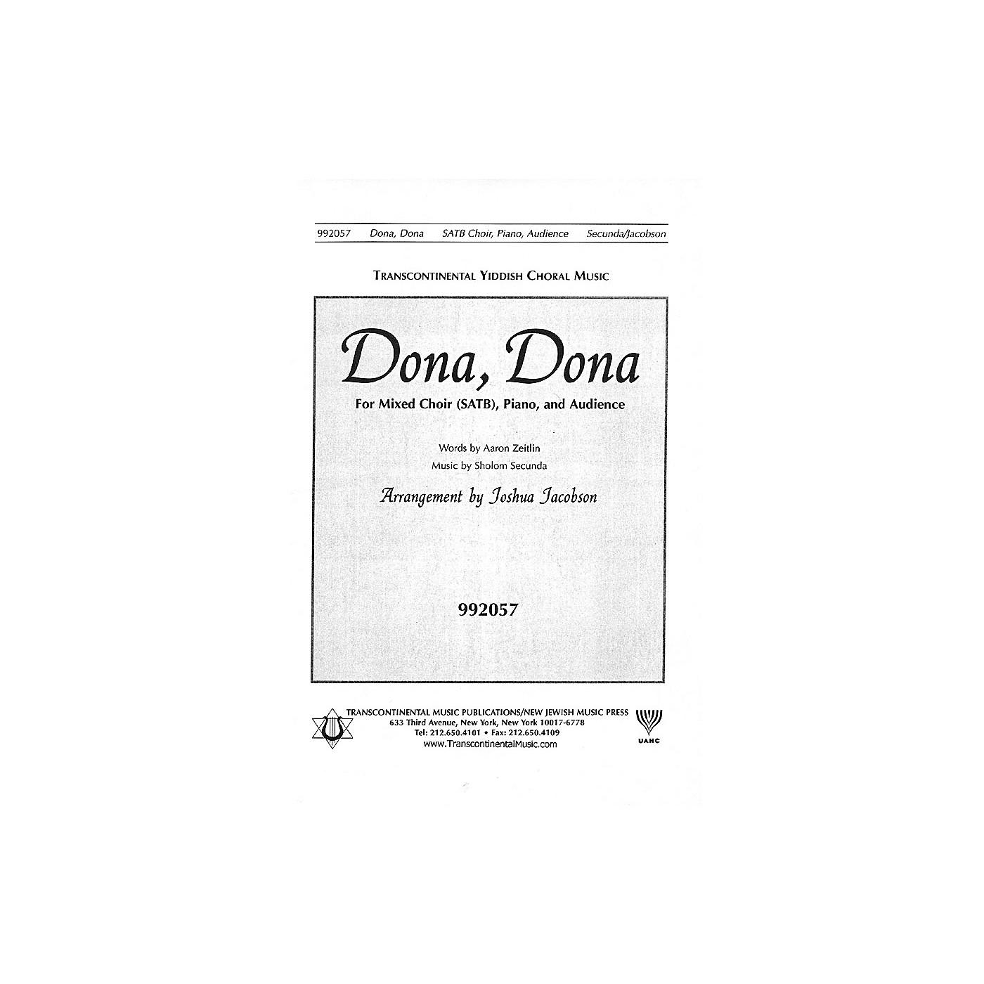 Transcontinental Music Dona Dona SATB arranged by Joshua Jacobson thumbnail